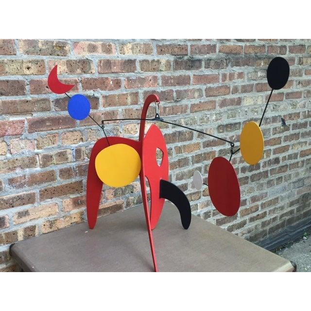 Vintage Calder Style Stabile Mobile Sculpture - Image 2 of 11