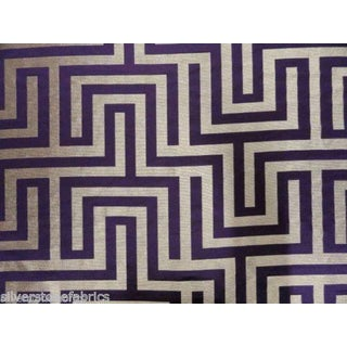 Beacon Hill Geometric Olympus in Purple & Silver - 2.25 Yards