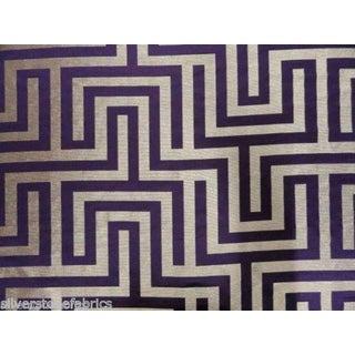 Beacon Hill Geometric Olympus in Purple & Silver - 2.25 Yards