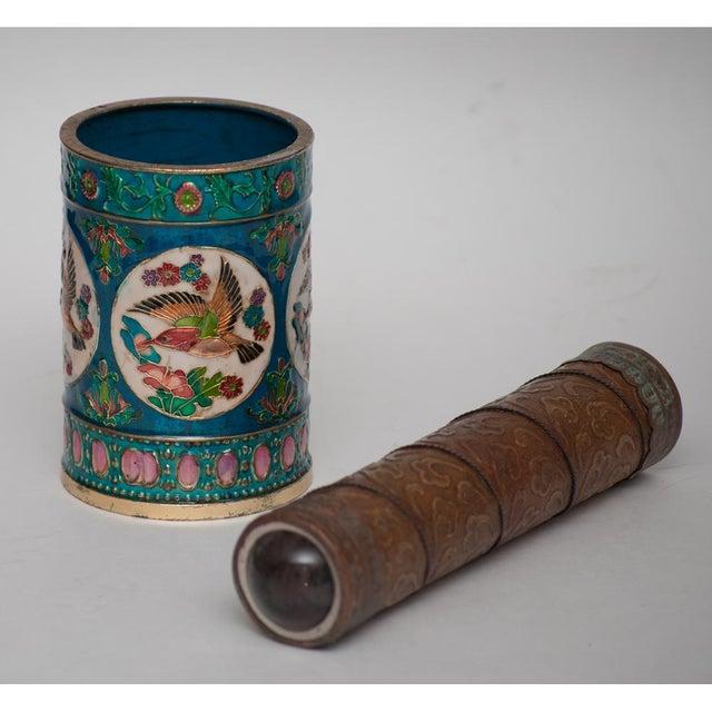 Vintage Peking Brush Pot & Kaleidoscope - Image 2 of 11