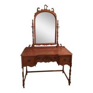 Antique Federal Maple Mirrored Vanity