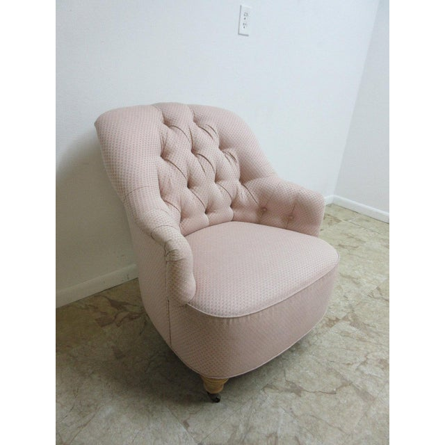 Ethan Allen Chesterfield Lounge Chair - Image 3 of 10