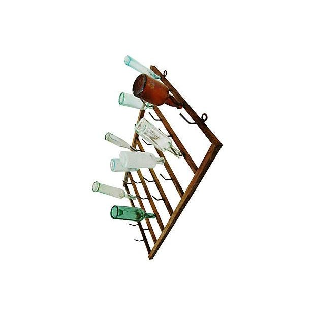 Image of French Vintner Bottle Drying Wall Rack