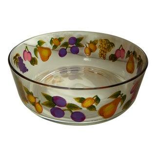 Vintage Italian Glass Serving Bowls - A Pair