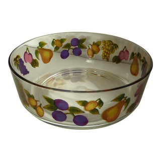 Vintage Italian Glass Serving Bowls - A Pair