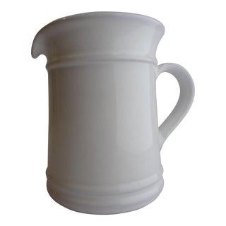 Goldsmith Glazed White Ceramic Pitcher