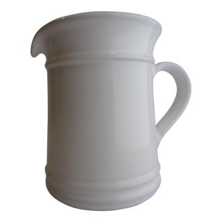 Goldsmith Glazed White Ceramic Pitcher