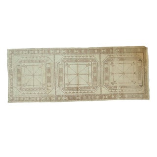 "Vintage Distressed Oushak Rug Runner - 3'9"" x 9'8"""