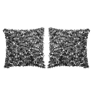 Gray Trico Decorative Pillows - A Pair