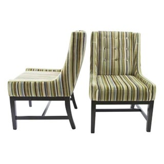 Vanguard Furniture Velvet Striped Chairs - A Pair