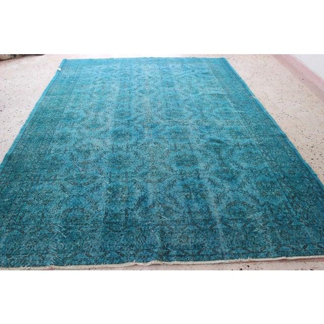Turquoise Overdyed Rug - 6'7'' x 10' - Image 3 of 7