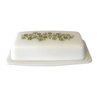 Pyrex Green Spring Blossom Butter Dish