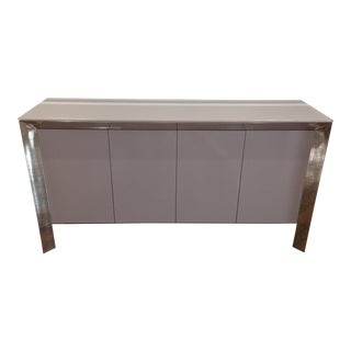 Contemporary Gray Lacquer Sideboard
