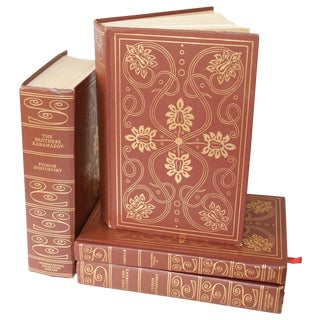 Decorative Gilt Book Collection - Set of 4