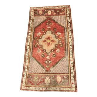 "Bellwether Rugs Vintage Turkish Oushak Welcome Mat Rug - 2'2"" X 4'4"""
