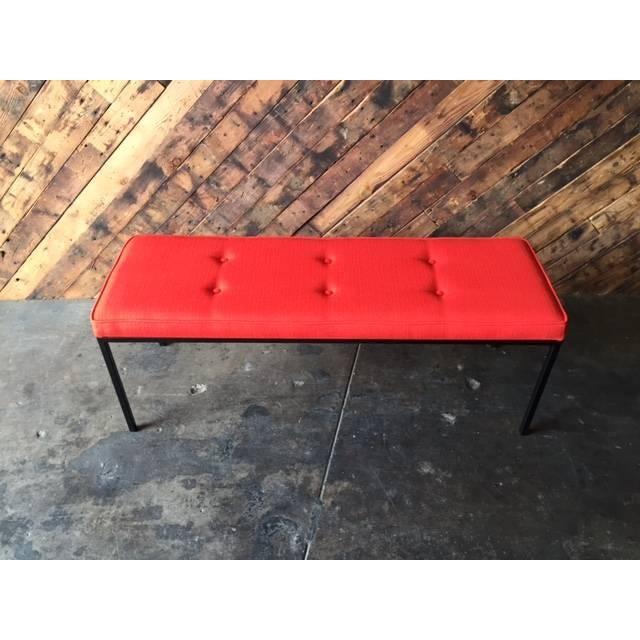 Custom Powder Coated Steel Bench - Image 3 of 7
