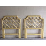 Image of Chippendale-Style Bamboo Headboards - A Pair