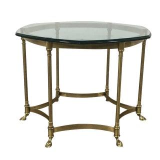 Vintage Bergère Brass Coffee Table