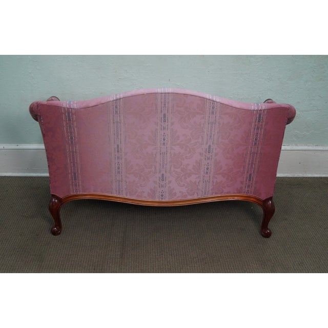 Hickory Chair French Mahogany Frame Loveseat - Image 4 of 10