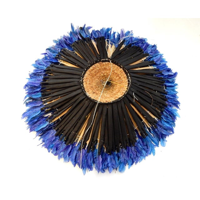 Image of Juju Hat Cobalt Blue African Wall Hanging