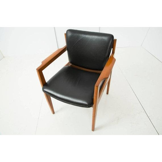 Danish Modern Armchair With Back Leather Seat - Image 3 of 4