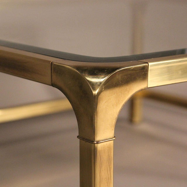 Mastercraft Brass and Glass Coffee Table - Image 2 of 10