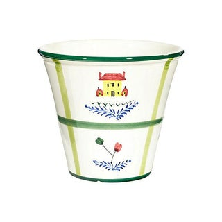 1960s Hand-Painted Italian Flower Pot