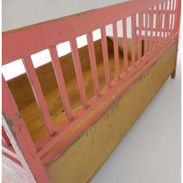 19th Century Painted Swedish Bench/Daybed - Image 9 of 9
