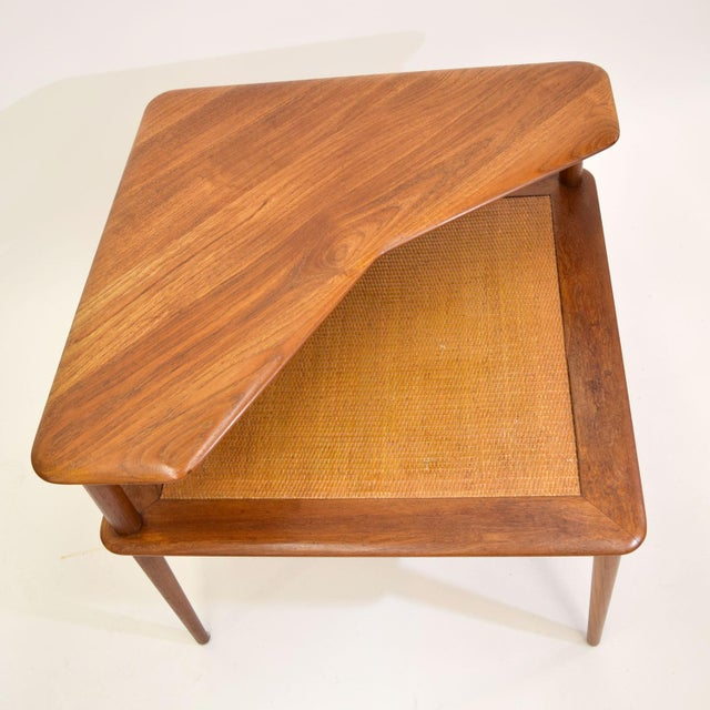 Teak and Cane Side Table by Hvidt & Mølgaard - Image 5 of 9