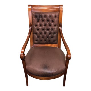 Tufted Leather Consulate Armchair