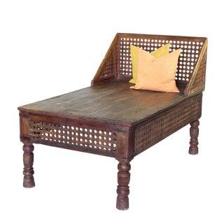 Heritage Vintage Hand Carved Lounge Daybed