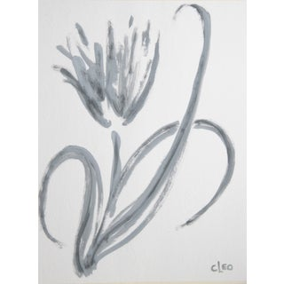 Abstract Floral Tulip Painting by Cleo