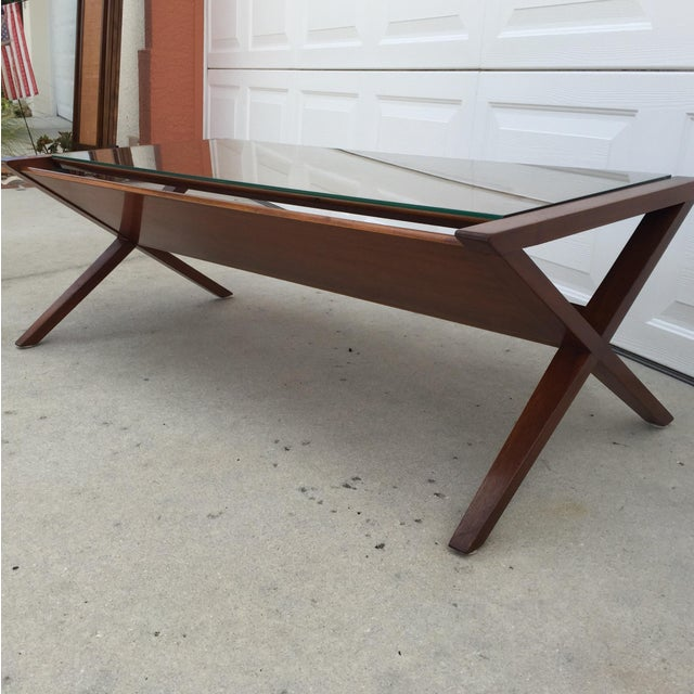 Image of John Van Koert Walnut Coffee Table