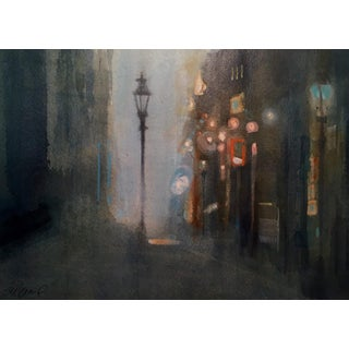 "Steve Klinkel ""Midnight in the Alley - New Orleans"" Watercolor Painting"