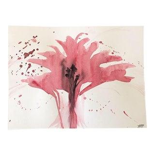 Crimson Original Watercolor Painting