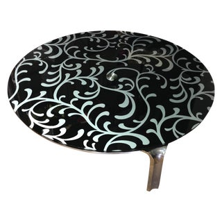 Lazy Suzan Round Coffee Table