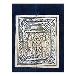 Image of Hand-Blocked Chinese Indigo Story Panel Textile