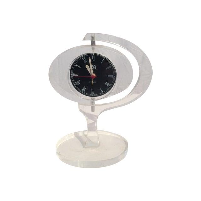 Mid-Century Modern Jetsons Lucite Alarm Clock - Image 1 of 4