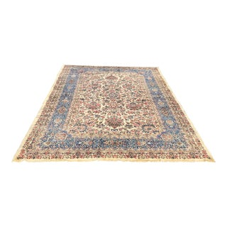Persian Handknotted Kerman Area Rug - 10.10 x 17.6
