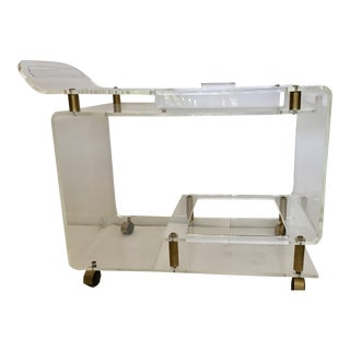 Lucite & Brass Bar Cart