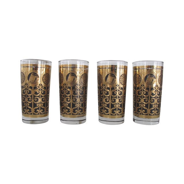 Midcentury Highball Glasses - Set of 4 - Image 1 of 5