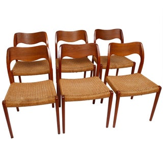 Danish Teak Niels Moller Dining Chairs- Set of 6