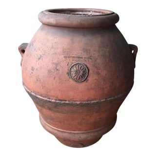 Antique Italian Terra Cotta Oil Pot