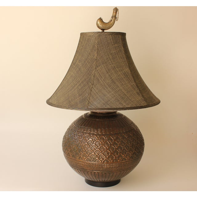 Tribal Repousse Table Lamp - Image 2 of 7