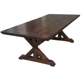 Iron Rod Farmhouse Table