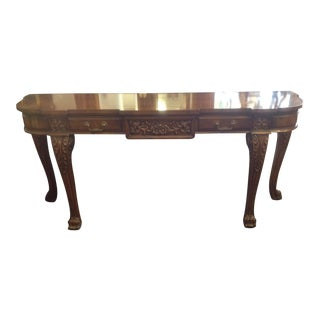 Karges Burlwood Console Table
