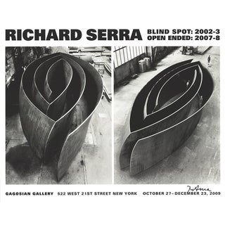 """Richard Serra """"Blind Spot, Open Ended"""" 2009 Signed Poster"""
