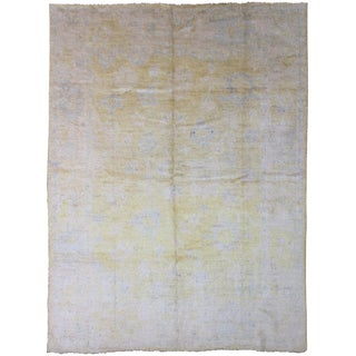 """Hand Knotted Oushak Rug 10' X 8'5"""""""