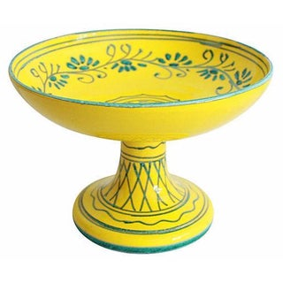 Italian Pottery Pedestal Bowl