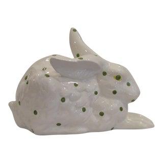 Mosaique D'Art Green Dotted Ceramic Rabbit